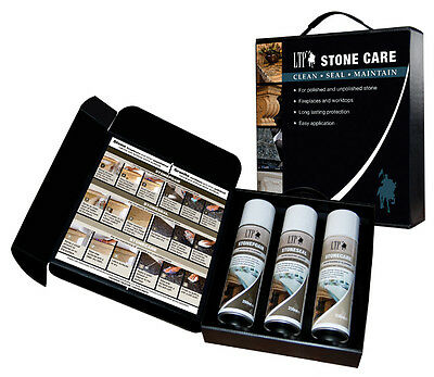 LTP Stone Care Kit for Fireplace and Worktops. Clean, Seal & Maintain All in One