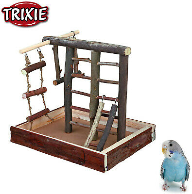 Trixie Natural Budgie Bird Wooden Playground Stand Perches Ladder Swing 5660 New