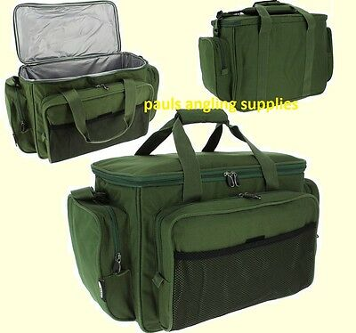 HYL063 *FREE P/&P* Carp Fishing Green Insulated Carryall Padded Tackle Bag