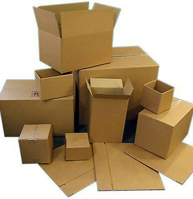 "100 Single Wall Corrugated Boxes / Cartons / 8""x8""x8"""