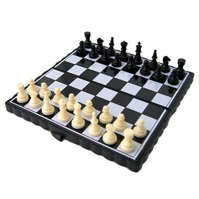 Luxury Gift Inc Magnetic Travel Chess Set Black & White Toy Board