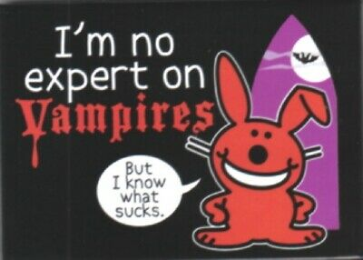 Happy Bunny I'm no expert on Vampires, But I know what sucks Magnet, NEW UNUSED
