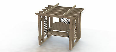 Garden Pergola with Swing Woodworking Plans - Easy to Build