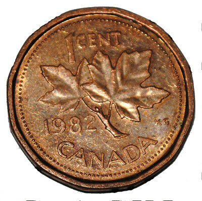 Canada 1982 1 Cent Copper One Canadian Penny Coin
