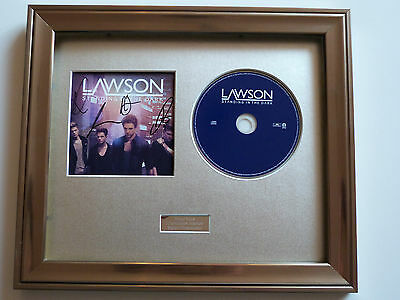 Lawson - Standing In The Dark Personally Signed/Autographed Framed Presentation.