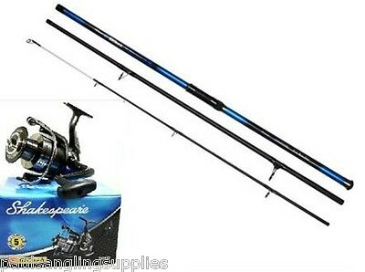 2 x Shakespeare Sigma Rods & Reels 13ft Carbon Beachcaster Sea Beach Fishing