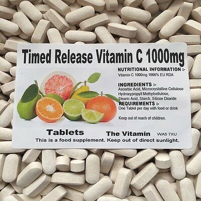 The Vitamin Timed Release Vitamin C 1000mg 365 Tablets  FREE UK P&P      (L)