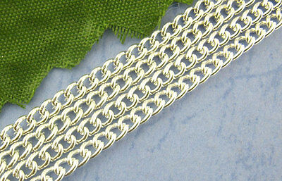 4M Silver Plated Chains Findings 2x3mm