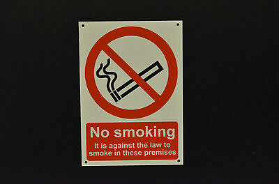 No Smoking Against The Law These Premises Sign Choice Of Sizes And Materials