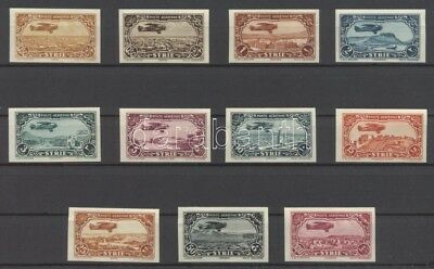 Syria stamp airmail imperforate set Signed: Sanabria 1931 Mi 356-366 WS108479