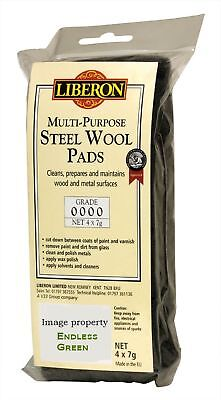 Liberon Steel Wire Wool 0000 Ultra fine - ideal to apply wax polish  4 x 7g pack