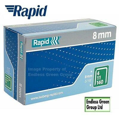 Rapid High Performance General Purpose Staples - 140 Series 8mm Leg - 140/8