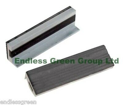 Silverline Soft Vice Jaws With Magnetic Base & Rubber Face - Fits 100mm Vice