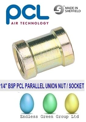 PCL 1/4 BSP PARALLEL SOCKET - Female connector air line / air tool fitting 25823
