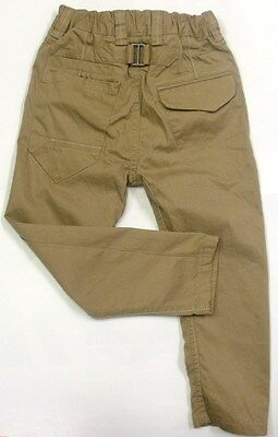 Ex Next Boys Kids Skinny Carrot Fit Trousers In Khaki Sizes : 3 - 14 Y