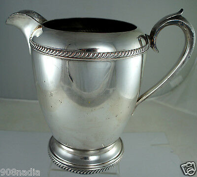 ANTIQUE SILVER PLATE ON COPPER WATER/WINE PITCHER/JUG FB ROGERS