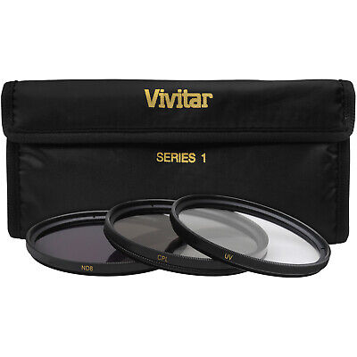 Vivitar 3-Piece 82mm UV/CPL/ND8 Multi-Coated Fundamental Filter Kit