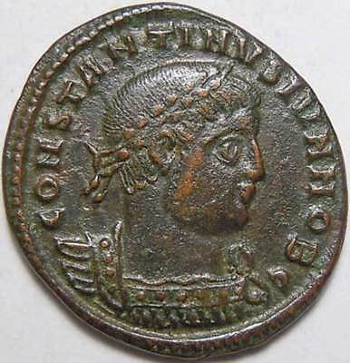 Constantine II son of Constantine The Great AE3 Soldier