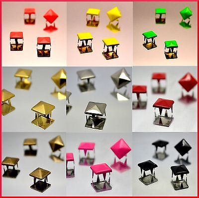 EIMASS® Pyramid Shape Studs with Prongs, Copper Studs for Bags Belts Shoes, 2188