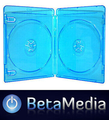 50 x Blu Ray Double 12mm Quality Cases with logo - U.S Standard Size - Holds 2