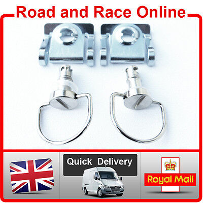 Fairing Fastener Quick Release Dzus Style D Ring 17mm Road Race or Trackday Pair