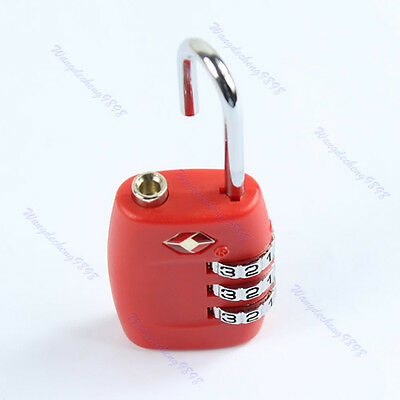 Red TSA Resettable 3 Digital Combination Safe Travel Luggage Suitcase Code Lock
