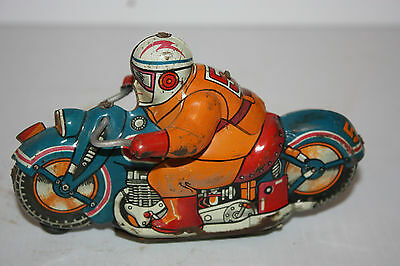 Tin Hadson Race Motorcycle #54 made in Japan in 1950's
