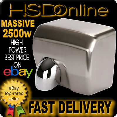 2300W Brushed Stainless Steel Automatic Electric Warm Air Hand Face Dryer