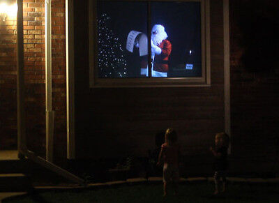 """Santa At My Window 60"""" X 42"""" REAR PROJECTION SCREEN MATERIAL only"""