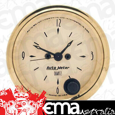 "Autometer Golden Oldies 2-1/16"" Electric Clock Quartz Movement Au1586"