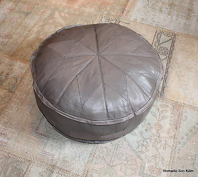 Genuine leather Ottoman pouffe - soft - quality - variety of colours