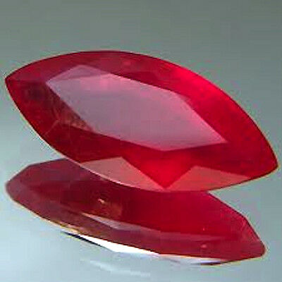 AAA Rated Marquise Faceted Bright Red Lab Created Ruby (Size 4x2mm to 24x12mm)