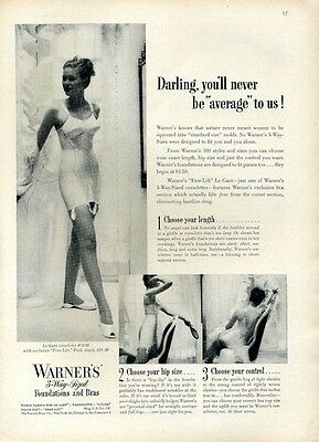 1950 Warners Bra Foundations Girdle PRINT AD