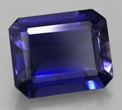 AAA Rated Octagon Faceted Bright Blue Lab Created Sapphire (5x3mm to 12x10mm)