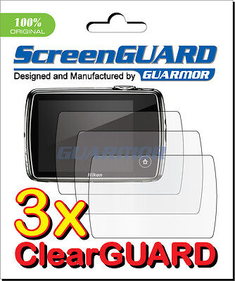 3x Clear LCD Screen Protector Guard Cover Film for Camera Nikon Coolpix S01
