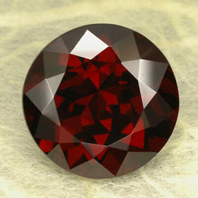 AAA Rated Round Bright Orange Red Genuine (Natural) Mozambique Garnet (3mm-6mm