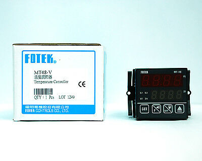 1pc Fotek MT-48V 48x48mm Temperature Controller K/J/Pt PID V pulse out + Alarm
