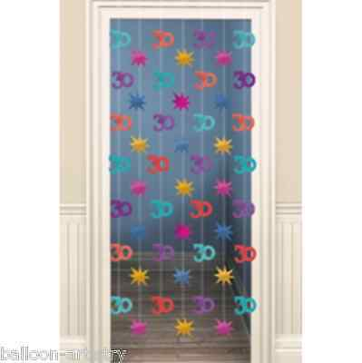2m Happy 30th Birthday Party Doorway Curtain Decoration