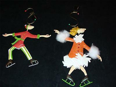 Marquis By Waterford Giddies Skater Collection Holiday Ornament Set of 2