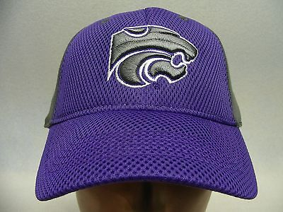 KANSAS STATE WILDCATS - NCAA/FBS - EMBROIDERED - ONE FIT FLEX BALL CAP HAT!