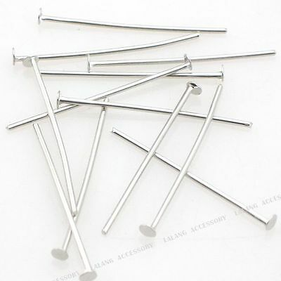 1000x 160047 New Hot Sale Wholesale Flat Head Pins Jewelry Making Findings 26mm