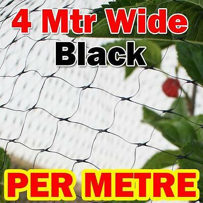 4mtr wide x MTR BLACK Anti Bird Netting Fruit / Plant Tree Bird Netting / Net