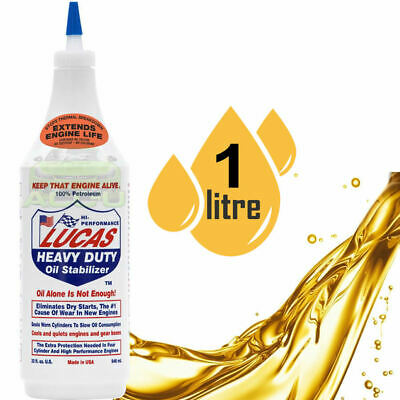 Lucas Car Van Boat Heavy Duty Engine Oil Stabilizer 1 Litre Eliminates Dry Start