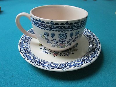 """Johnson Bros """"Hearth and Flowers"""" Staffordshire Old Granite 6 cups/saucers[a*5]"""
