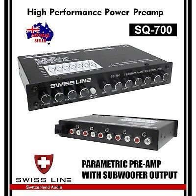 Swiss Line SL-Q70 7 Band Parametric Equalizer PreAmplifier for Car Amplifier
