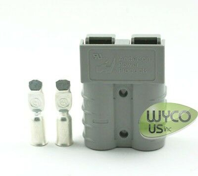 Quick Connector By Anderson Power Products, Sb50 600V, #6Awg Pins, Small Gray