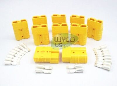 10 Quick Connect Connector Kits, Sb50A 600V, 8 Gauge, Yellow, Tow Trucks,cb