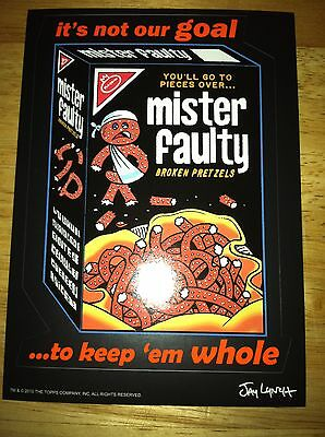 2011 TOPPS WACKY PACKAGES OLD SCHOOL 2 5X7 GIANT STICKER: MISTER FAULTY SLING