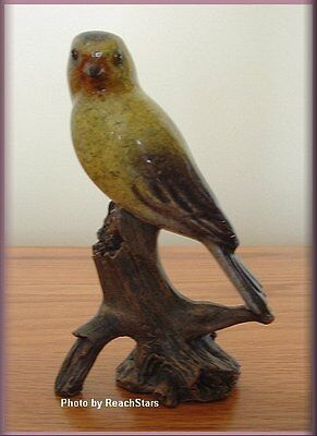 Gold Finch Figure Gold Nugget By Big Sky Carvers Stone Cast Free U.s. Shipping