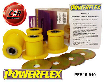 Ford Mondeo (00-07) Powerflex Rear Subframe Mounting Bushes PFR19-910